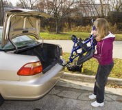 Handicapped Four Wheel Walker Royalty Free Stock Image