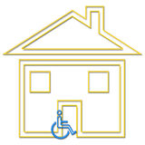 Handicapped housing royalty free stock photo