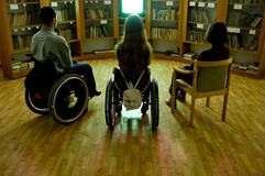 Handicapped In Front Of A TV Stock Images