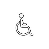 Handicapped and invalid line icon Stock Photography
