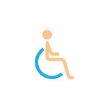 Handicapped and invalid solid icon Stock Photo