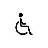 Handicapped and invalid solid icon Stock Image
