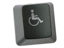 Handicapped key Stock Photos