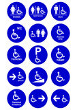 Handicapped, man and woman symbol Stock Image
