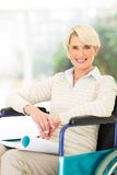 Handicapped mid age woman relaxing home Royalty Free Stock Photography