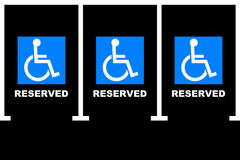 Handicapped parking area royalty free stock image