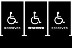 Handicapped parking area royalty free stock images