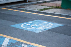 Handicapped parking Stock Photo