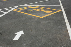 Handicapped parking lot. Isolated parking lot for disability Stock Image