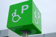 Handicapped parking place sign Royalty Free Stock Photo