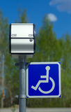 Handicapped parking sign Royalty Free Stock Photo
