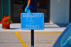 Handicapped Parking Sign Royalty Free Stock Image