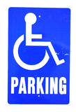 handicapped parking sign Royalty Free Stock Photos