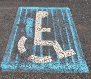 handicapped parking sign Stock Images