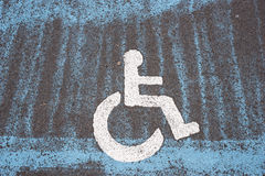 Only handicapped parking sign Stock Photo