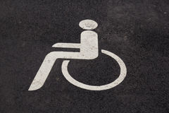 Only handicapped parking Stock Image
