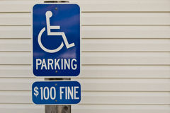 Handicapped Parking Sign With Copy Space Royalty Free Stock Images