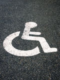 Handicapped parking sign 47 royalty free stock image