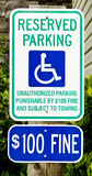 Handicapped Parking Sign 1 Royalty Free Stock Images