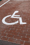 Handicapped parking Royalty Free Stock Photos