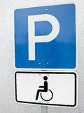 Handicapped parking sign  (1) Royalty Free Stock Images