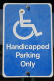 Handicapped parking Royalty Free Stock Image