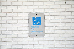 Handicapped Parking Sign Stock Image