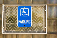 Handicapped parking Royalty Free Stock Images