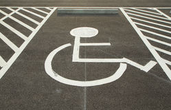 Handicapped parking space Stock Images