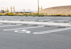 Handicapped Parking Spaces Stock Photography