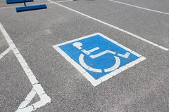 Handicapped parking Stock Photography