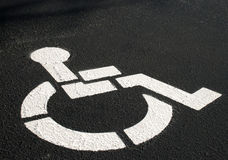 Handicapped Parking Symbol Royalty Free Stock Images