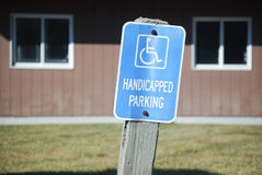 Handicapped Parking Between Windows Royalty Free Stock Image