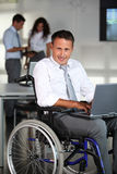 Handicapped people at work Royalty Free Stock Photography
