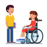 Handicapped person socialization Stock Images