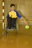 Handicapped person sport in the wheelchair Royalty Free Stock Image