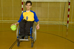 Handicapped person sport in the wheelchair Stock Photo