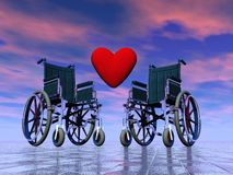 Handicapped persons love - 3D render Royalty Free Stock Photo