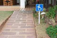 Handicapped ramps. In restaurant , Thailand royalty free stock image
