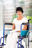 Handicapped reading book Stock Image
