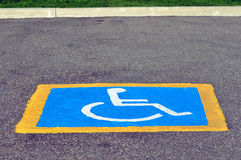Handicapped reserved parking Royalty Free Stock Photo