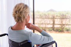 Handicapped senior woman Royalty Free Stock Images