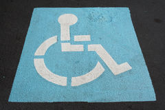 Handicapped sign Stock Photos