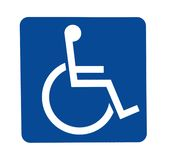 Handicapped sign Stock Photo