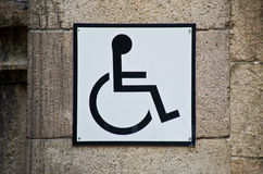 Handicapped sign. Royalty Free Stock Image