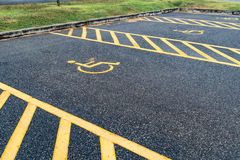 Handicapped sign in car park Stock Photo