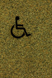 Handicapped sign, detail of an information signal, disabled Stock Image
