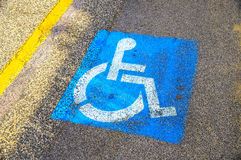 Handicapped sign Stock Images