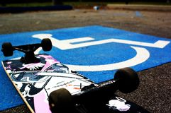 Handicapped Skateboarder Royalty Free Stock Photography