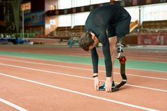 Handicapped Sportsman Warming Up stock image